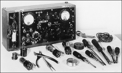 A rare R-K Model V-7 radio test set