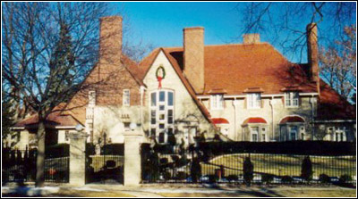 William C. Grunow's English-Tudor style house
