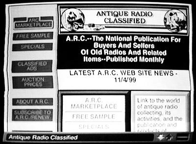 A.R.C.'s new home page on WebTV.