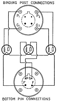 A schematic drawing of the base connections for the Multivalve tube.