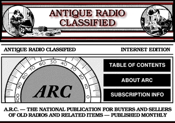 The A.R.C. Home Page Screen Graphic