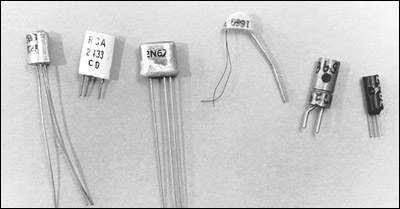 Somewhat rare point contact transistor types.